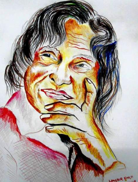Portrait of A. P. J. Abdul Kalam